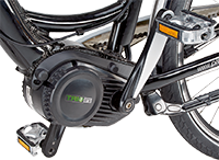 Detail 2 zu Elektrorad 'E-Bike Alu- Trekking 28'' e-novation Mittelmotor licensed by JD'